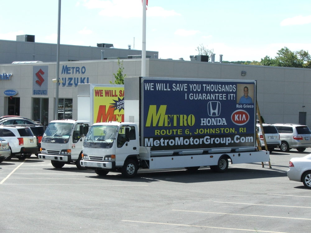 Mobile Billboard Advertising in Rhode Island