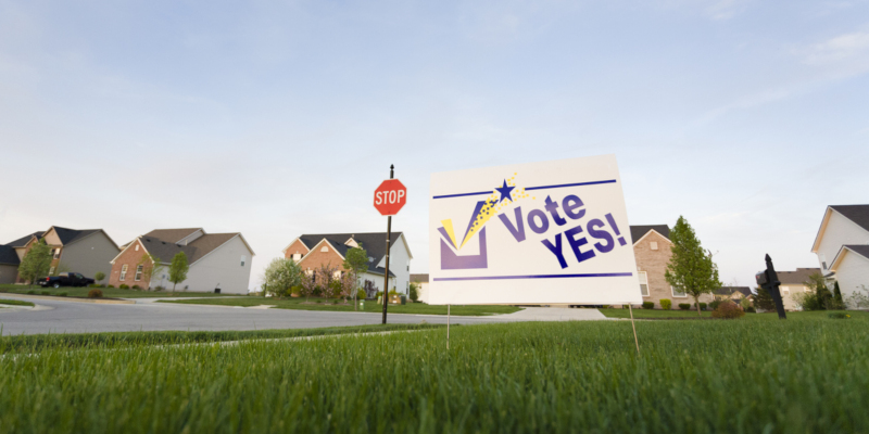 Political yard signs are an effective method of getting information out